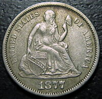 1877 P SEATED DIME  --  MAKE US AN OFFER  R5236
