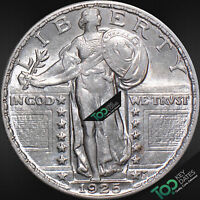 1925  25 STANDING LIBERTY QUARTER  AU  CHOICE ALMOST UNCIRCULATED  57