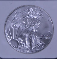 2010 1 OZ AMERICAN SILVER EAGLE EARLY RELEASES NGC MINT STATE 69