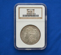1897 S MINT STATE 62 MORGAN DOLLAR  GRADED BY NGC  0.900 SILVER