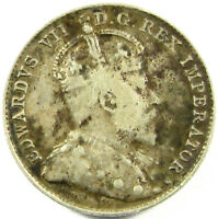 1903-H  CANADA  10 CENTS  KM 10   SILVER  A  GOOD PLUS COIN