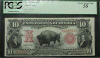 Click now to see the BUY IT NOW Price! 1901 $10 BISON LEGAL TENDER NOTE PCGS AU 55   CHOICE ABOUT NEW    FR114