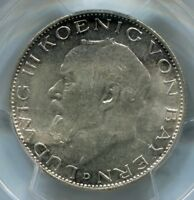 GERMANY SILVER COIN KM 1002BAVARIA  2 MARK. LUDWIG III1914DPCGS MINT STATE 63 [C16]
