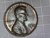 1972 D LINCOLN MEMORIAL CENT  DIE CHIP COVERING DESINGERS INITIALS
