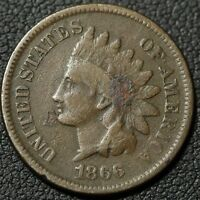 1866 INDIAN HEAD CENT PENNY   180 DEGREE ROTATION   ENVIRONMENTAL DAMAGE