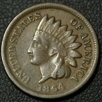 1864 BRONZE INDIAN HEAD CENT PENNY