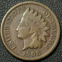 1908 S INDIAN HEAD CENT PENNY   CORROSION
