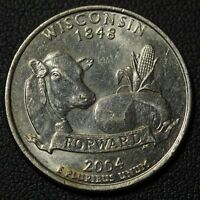 2004 D EXTRA LOW LEAF WISCONSIN STATE QUARTER