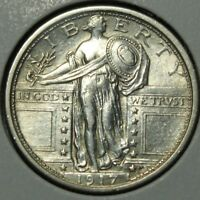 1917 TYPE 1 STANDING LIBERTY SILVER QUARTER   LUSTROUS BEAUTY