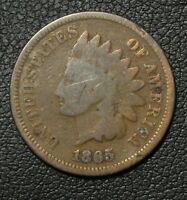 1865 INDIAN HEAD CENT PENNY   SLIGHT BEND