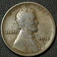 1914 D LINCOLN WHEAT CENT PENNY