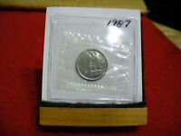 1987 CANADA  DIME  10 CENTS    TOP GRADE  87  PROOF LIKE  SEALED  SEE PHOTOS