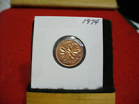 1974  CANADA  1  CENT COIN  PENNY  PROOF LIKE  HIGH  GRADE  SEALED  SEE PHOTOS