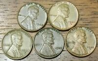1948 1948D 1948S 1949 1949D LINCOLN WHEAT CENT PENNY  MS - 63 TO MS - 65