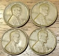 1932D 1934 1934D 1935D LINCOLN WHEAT CENT PENNY FINE TO  FINE