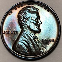1941 D DDO-001 UNCIRCULATED LINCOLN WHEAT 1C1 CHOICE BU/RD FROM OBW ROLL -107