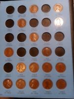 1909 - 1940 LINCOLN CENTS STARTER SET 65 DIFFERENT COINS IN NEW WHITMAN ALBUM