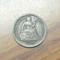 1867-S SEATED LIBERTY SILVER HALF DIME  VG