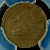 1857 1C FLYING EAGLE CENT PCGS AU 53 33617178