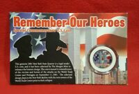 COIN REMEMBER OUR HEROES SEPTEMBER 11 2001 COMMEMORATIVE U.S. COIN TWIN TOWERS