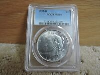 1922-D PEACE SILVER DOLLAR PCGS MINT STATE 65