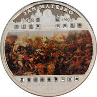MALAWI   50 MWK   2009   JAN MATEJKO   THE BATTLE OF GRUNWALD   3 OZ AG 999