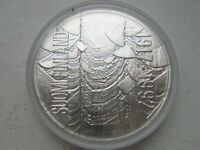 FINLAND 100 MARKKAA 1992 SILVER 75TH ANNIVERSARY OF INDEPENDENCE UNC