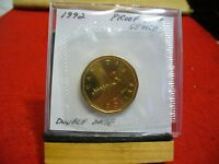 1992  CANADA   DOLLAR  COIN   TOP GRADE  SEE PHOTOS  92  PROOF LIKE  SEALED