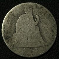 1867 S SEATED LIBERTY SILVER DIME