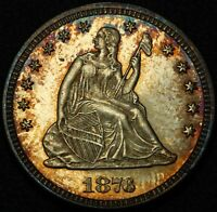 1876 PROOF SEATED LIBERTY SILVER QUARTER   PROOF