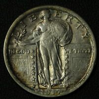 1917 TYPE 2 STANDING LIBERTY SILVER QUARTER