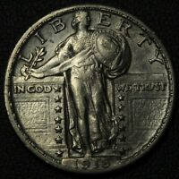 1918 STANDING LIBERTY SILVER QUARTER   LUSTER