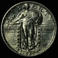 1923 STANDING LIBERTY SILVER QUARTER   GORGEOUS  POLISHED