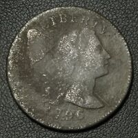 1796 LIBERTY CAP FLOWING HAIR COPPER LARGE CENT   CORROSION