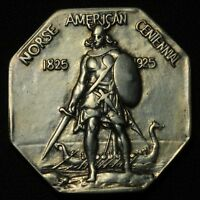 1925 NORSE AMERICAN MEDAL THICK PLANCHET SILVER HALF DOLLAR