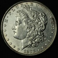 1878 STRONG 7/8 TF MORGAN SILVER DOLLAR   CLEANED