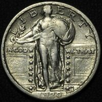 1920 S STANDING LIBERTY SILVER QUARTER   DIE CRACK THROUGH DATE