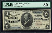 1891 $2 SILVER CERTIFICATE PMG VF30   TWO DOLLAR