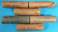 6 ROLLS 1970 BU CANADIAN NICKEL CANADA 5 CENT COIN IN WRAPPE