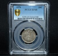 1876 P 20 CENT PIECE  PCGS XF 45  20C SILVER EXTRA FINE EF CHOICE TRUSTED