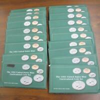 19 PC LOT 1993 UNITED STATES MINT UNCIRCULATED COIN SETS ORI