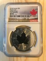 2018 CANADA S$5 MAPLE LEAF MS 69 EARLY REL