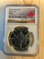 1989 CANADA S$5 MAPLE LEAF MS 67