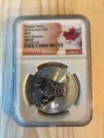2018 CANADA S$5 MAPLE LEAF MS 69 PREDATOR SERIES WOLF   EARL
