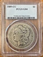 PCGS SILVER G04 1889 CC MORGAN DOLLAR   CARSON CITY