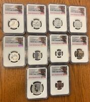 NGC PF 70 SILVER REVERSE 2018 S PROOF SET   COINS IN DESCRIP