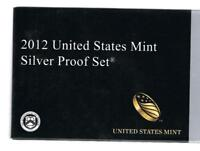 2012 S SILVER PROOF SET WITH BOX AND C.O.A.