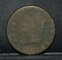 1808 CLASSIC HEAD LARGE CENT  VG  GOOD  1C  NOW  COIN TRUSTED