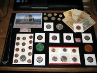 COIN LOT COLLECTION JUNK DRAWER US MINT SET OLD COINS IKE DO