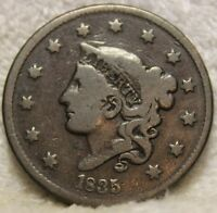 1835 LARGE CENT SMALL STARS